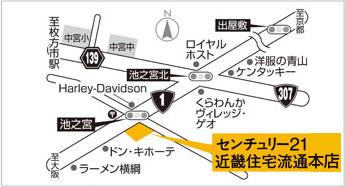 センチュリー21 近畿住宅流通 マップ